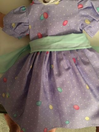 Fits American Girl Doll Lavender/purple Dress With Sash 405 For Kaye Only