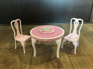 Barbie Dining Room Mattel 1984 Sweet Roses Table And 2 Chairs