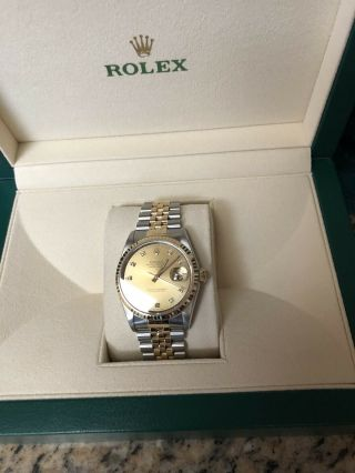 Rolex Datejust 36mm Gold Jubilee With Diamonds On Face Certified