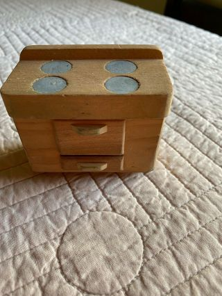 Miniature Wooden Doll House Furniture Collectable Stove/oven