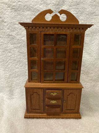 Dollhouse China Cabinet 1990s (wooden)