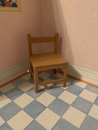 """Madeline 8 """" Dollhouse Furniture Single Brown Plastic Kitchen Chair Replacement"""