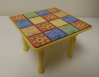 Fisher Price Dollhouse Patchwork Dining Table - Loving Family Grand Mansion House