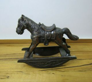 Dollhouse Miniatures,  Rocking Horse,  Metal,  1/12th Scale