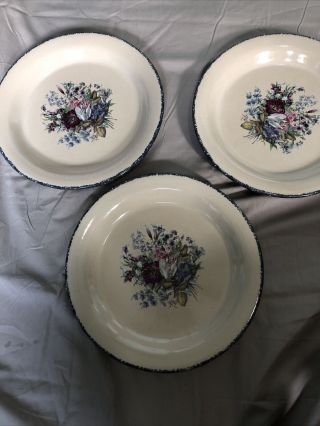 3 Home & Garden Party Usa Floral Dinner Plates 10 Inch