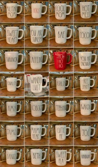 Rae Dunn Choose Your Own Mug Large Letters Fast & Safe Nwt