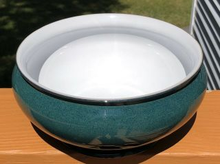 Denby Langley Greenwich Stoneware Hand Crafted Round Bulbous Serving Bowl