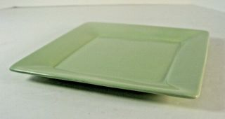 "Tabletops Gallery Misto Green 10 1/2 "" Square Dinner Plate Hand Crafted"