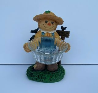 Home And Garden Scarecrow Fall Autumn 10.  5 Inch Candy Dish