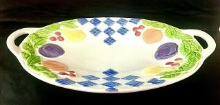 Pfaltzgraff Hopscotch By Treasure Craft Usa Large Oval Serving Platter 15 3/4 ""