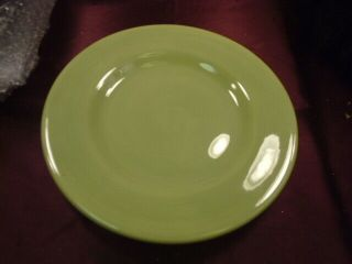 """ Corsica Home "" Green Dinner Plate - Hand Crafted & Painted Stoneware - 11.  5 "" - Freship"