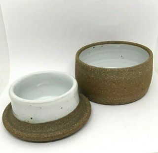 Gorgeous Handthrown Sawyer Ceramics French Butter Keeper Stoneware