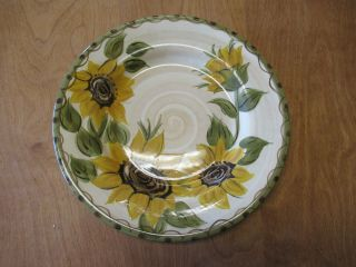"Whole Home Provencial Garden Sunflowers Dinner Plates 11 1/4 "" 4 Available"