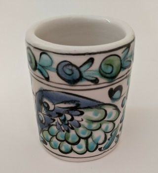 Vintage Handmade Hand Decorated Greek Cup.  Crafted By Icaros Pottery In Rhodes