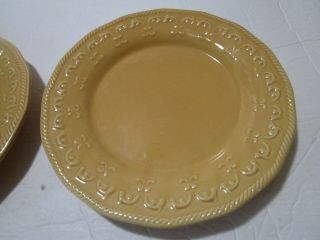 "Better Homes & Gardens Harvest Gold Salad Plates 2 Raised Pattern 9 "" Autumn"