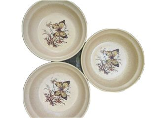 3 Treasure Craft Butterfly Cereal Bowls