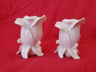 Lenox Rose Hand Crafted Candle Stick Holders