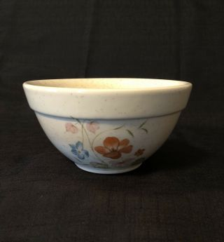 Vntg Usa Pottery Treasure Craft Mixing Bowl Poppy Farm To Table Speckle 1/2 Qt