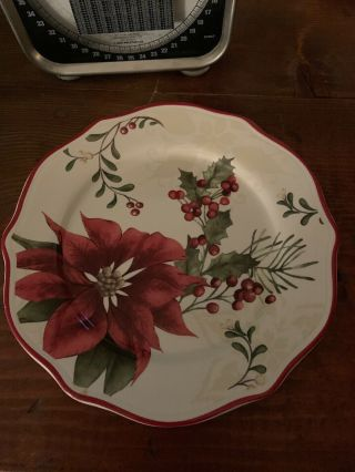 Better Homes & Garden Holiday Limited Edition Salad Plate With Holly