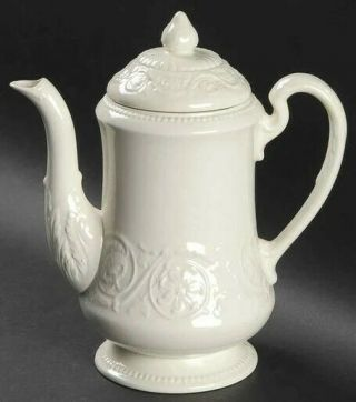 Coffee Pot & Lid Patrician (old,  1927 - 1986) By Wedgwood Crafted In England