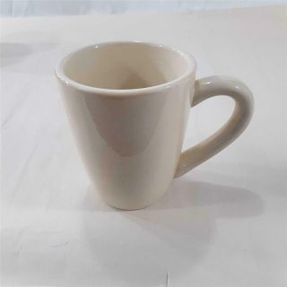 """Tabletops Lifestyle Espana 4.  5 """" Ivory Mug Cup Hand Painted Hand Crafted Cream"""