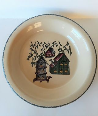 2004 Home And Garden Party Ltd Birdhouse Pie Plate Made In Usa