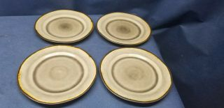 Better Homes And Gardens Bramley Gray/brown Set/4 Dessert/salad Plates