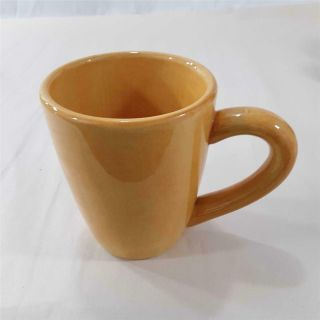 """Tabletops Lifestyle Espana 4.  5 """" Butter Mug Cup Hand Painted Hand Crafted Yellow"""