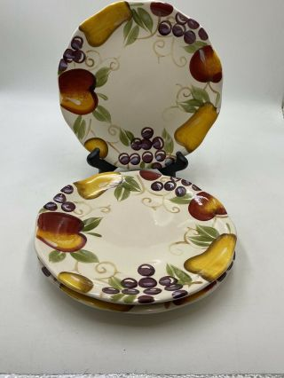 Set Of 3 Better Homes And Gardens Fruit Salad Plates
