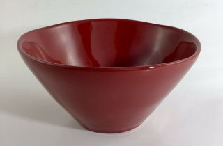 Marin Red By Crate & Barrel Stoneware 6.  25 Inch Bowl Crafted In Portugal