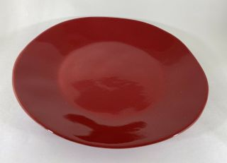 Marin Red By Crate & Barrel Stoneware 10.  5 Inch Plate Crafted In Portugal Disc.