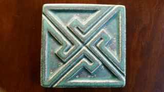 """Motawi Tileworks Pottery Art Tile 4 """" X4 """" Arts And Crafts Michigan Usa"""