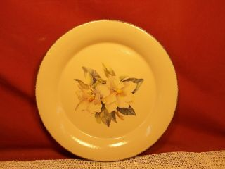 """Home & Garden Party Magnolia Pattern Dinner Plate 10 1/2 """""""