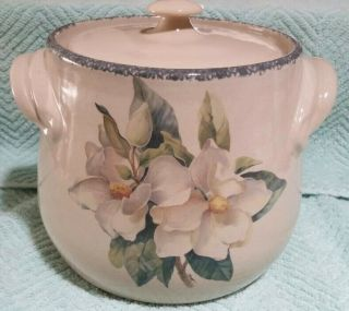 Home And Garden Party - Magnolia Cookie Jar With Lid