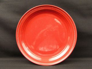 Craft Colors Rhubarb By Dansk Dinner Plate All Red Rim Smooth No Trim L209