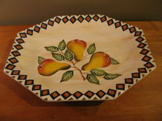 """Horchow Very Large Serving Platter 19.  5 """" X 16 """" 7816/50 Pears Made In Italy"""