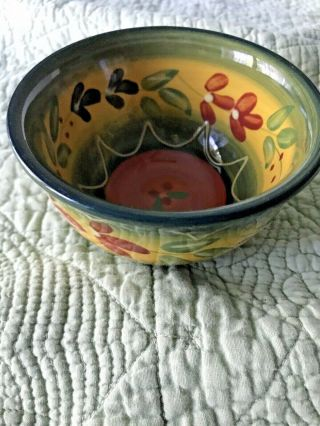 Fruit Bowl 4.  5 Inch Tabletops Gallery La Province Hand Painted Hand Crafted