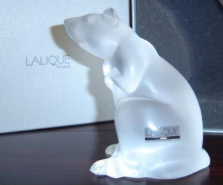 "$916 Lalique 4 "" Rat Sculpture Chinese Astrology Mouse Squirrel Nib 1404000"