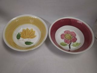 """2 Vintage Westwood Ironstone Serving Bowls 7 1/4 """" Hand - Crafted In Japan"""