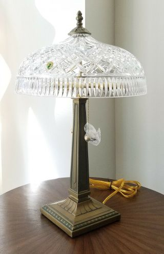 "Waterford Crystal 22 "" Table Lamp Beaumont Arts&crafts Mint/unused"