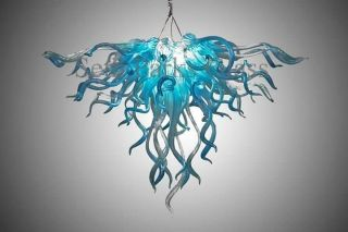 "Blown Glass Chandelier By Seth Parks 24 "" X 36 """