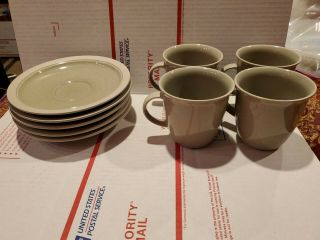 Mikasa Stone Craft Cf402 Mesa Verde Cups And Saucers.