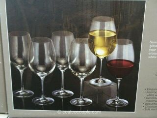 6 Wine Glass Sommelier By Waterford Crystal In Waterford Box
