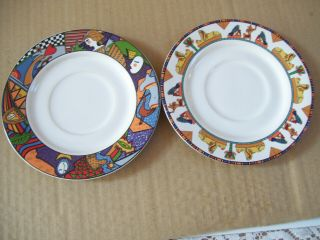 Vitromaster Metropolitan & Isis Saucer Set Of 2 No Cups Crafted In Indonesia
