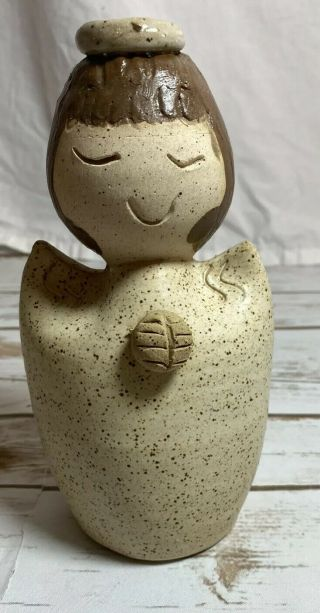 Hand Crafted Ceramic Angel Signed
