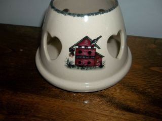 Home And/& Garden Party Birdhouse Large Lampshade Retired