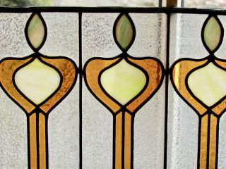 Arts And Crafts Stained Glass Panel