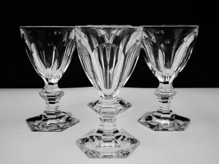 "4 Baccarat Crystal "" Harcourt 1841 "" Port Wine Glasses Hand - Crafted In France"