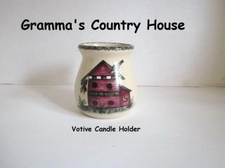 Home And Garden Party Birdhouse Votive Candleholder Jar 2001