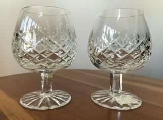 2 Waterford Lismore Crystal Brandy Snifters Balloon Sku 6003182620
